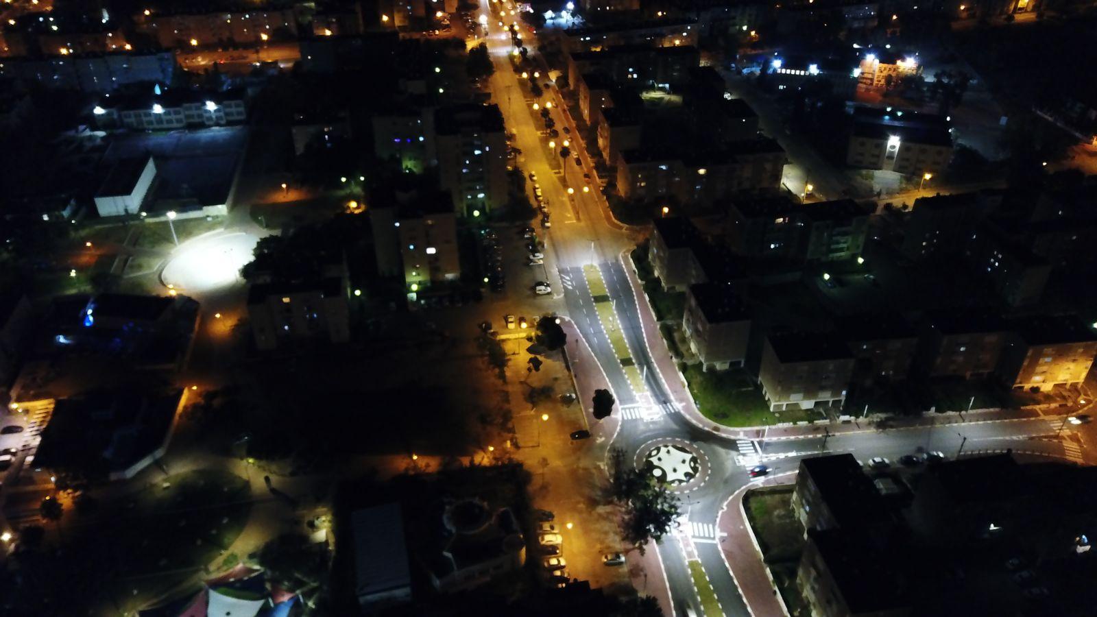 שיפורי תאורה בכיכרות אשקלון 2017